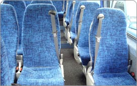Inside one of our 12 - 16 seater coaches