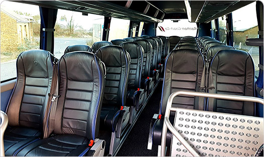Inside view of our 30 seater coaches
