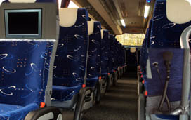 Inside view of one of our 41 seater coaches
