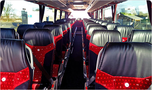 Inside view of our 49 seater coach